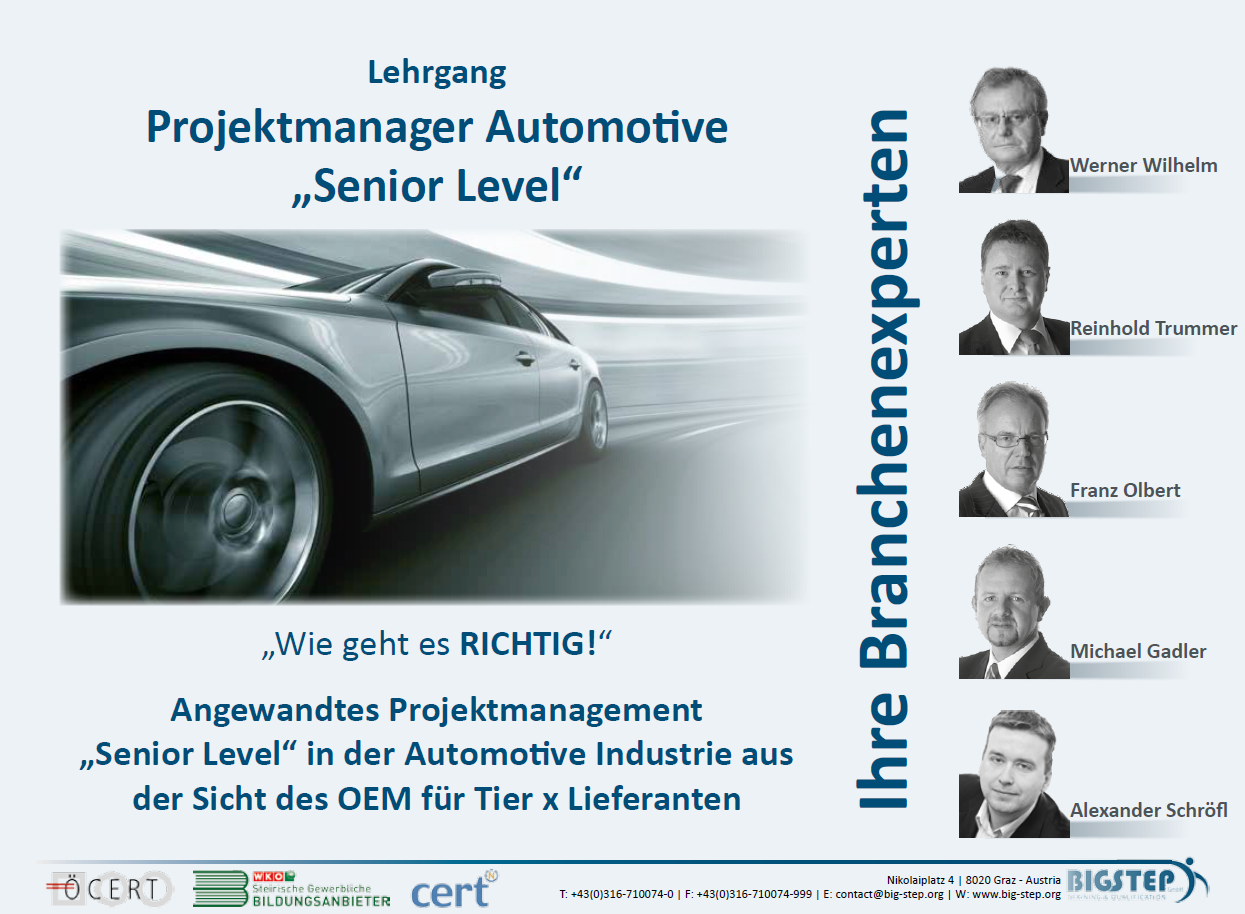 Folder Projektmanagement Automotive